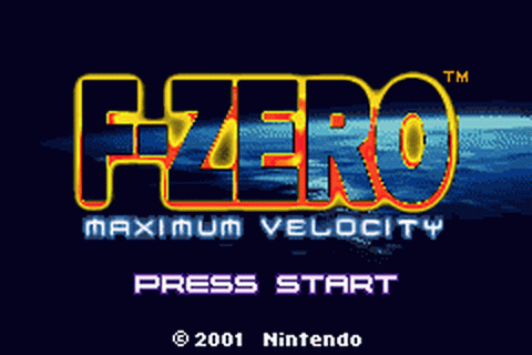 F-Zero - Maximum Velocity title screenshot