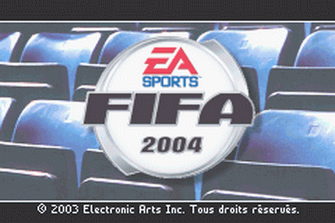 FIFA Soccer 2004 title screenshot