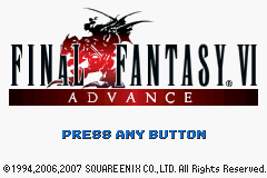Final Fantasy VI Advance title screenshot