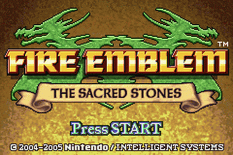 Fire Emblem - The Sacred Stones title screenshot