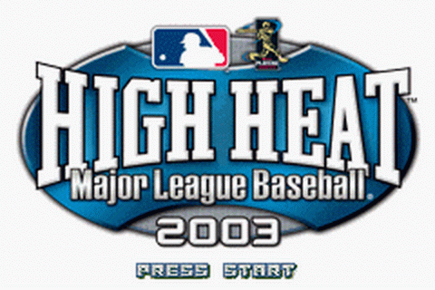 High Heat Major League Baseball 2003 title screenshot