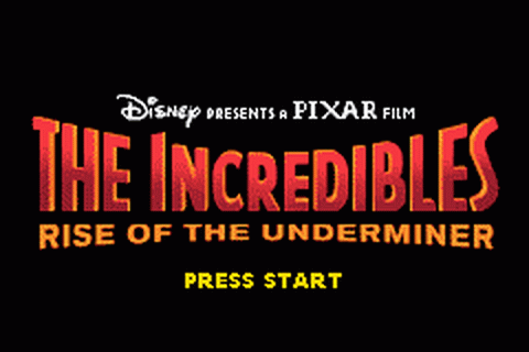 Incredibles, The - Rise of the Underminer title screenshot