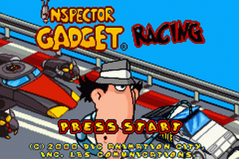 Inspector Gadget Racing title screenshot