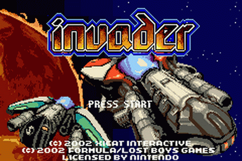 Invader title screenshot