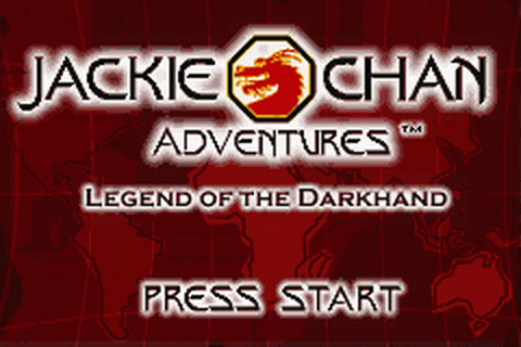 Jackie Chan Adventures - Legend of the Darkhand title screenshot