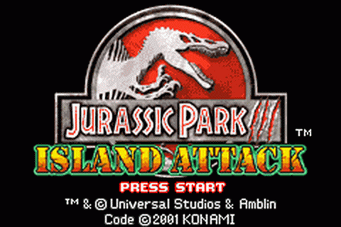 Jurassic Park III - Island Attack title screenshot