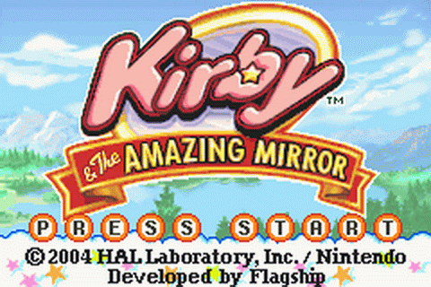 Kirby & the Amazing Mirror title screenshot