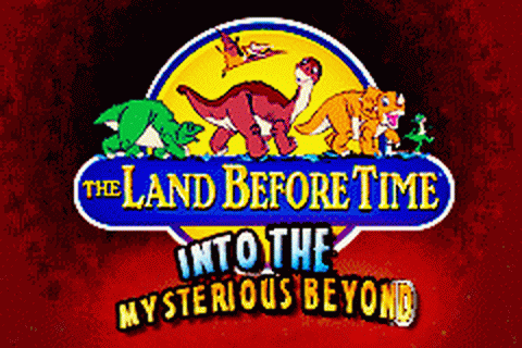 Land Before Time, The - Into the Mysterious Beyond title screenshot