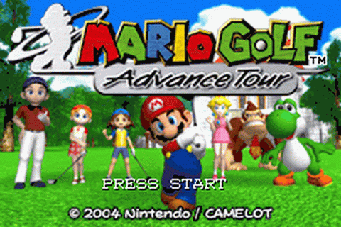 Mario Golf - Advance Tour title screenshot
