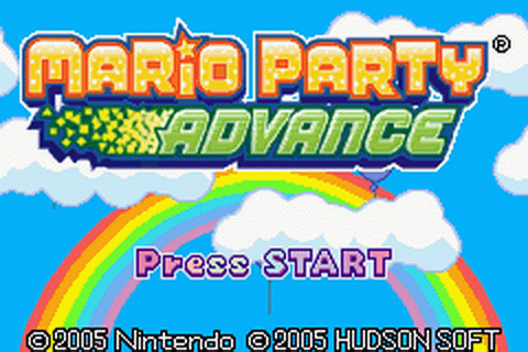 Mario Party Advance title screenshot