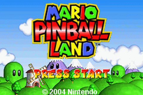 Mario Pinball Land title screenshot
