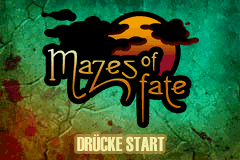 Mazes of Fate title screenshot