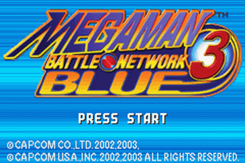 Mega Man Battle Network 3 - Blue Version title screenshot