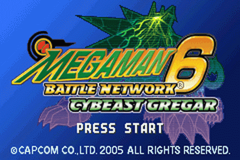 Mega Man Battle Network 6 - Cybeast Gregar title screenshot