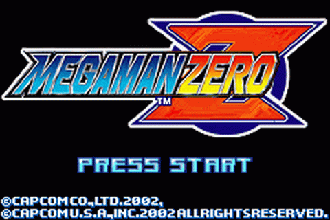 Mega Man Zero title screenshot