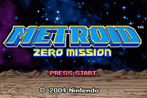 Metroid - Zero Mission title screenshot