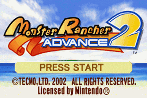 Monster Rancher Advance 2 title screenshot