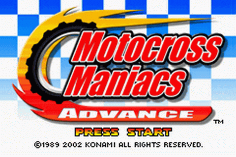 Motocross Maniacs Advance title screenshot