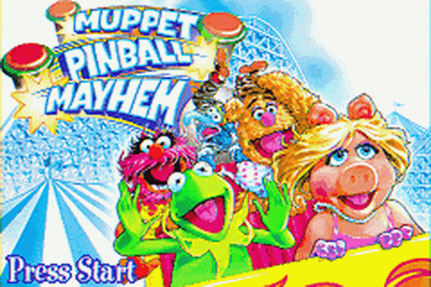Muppet Pinball Mayhem title screenshot
