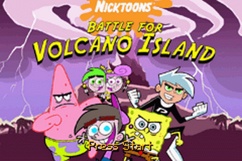 Nicktoons - Battle for Volcano Island title screenshot