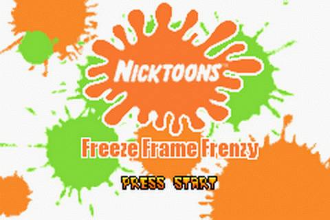 Nicktoons - Freeze Frame Frenzy title screenshot