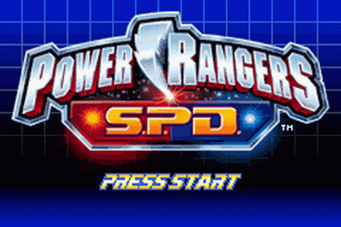 Power Rangers S.P.D. title screenshot