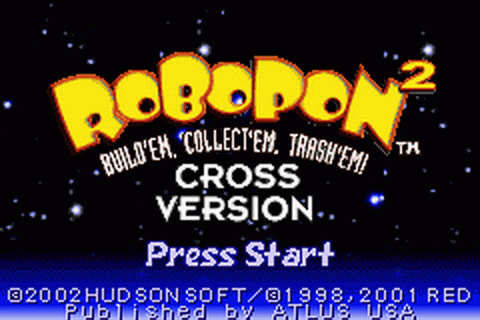 Robopon 2 - Cross Version title screenshot