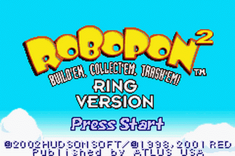 Robopon 2 - Ring Version title screenshot