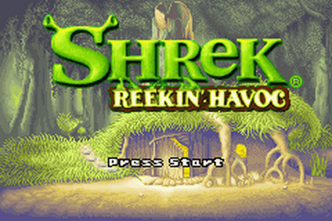 Shrek - Reekin' Havoc title screenshot