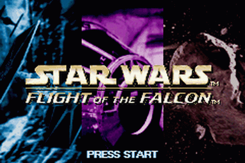 Star Wars - Flight of the Falcon title screenshot