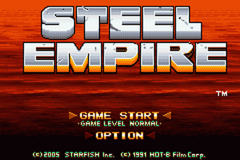Steel Empire title screenshot