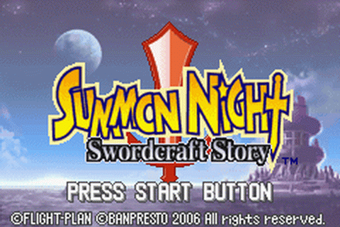 Summon Night - Swordcraft Story title screenshot