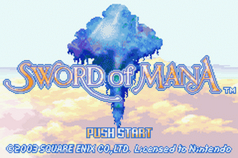 Sword of Mana title screenshot