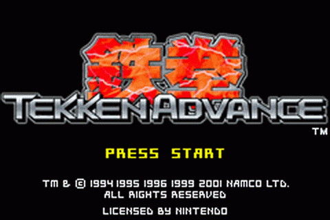 Tekken Advance title screenshot