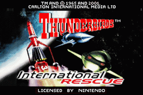 Thunderbirds - International Rescue title screenshot