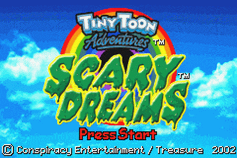 Tiny Toon Adventures - Scary Dreams title screenshot