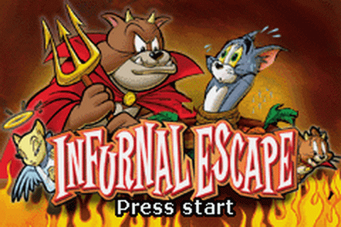 Tom and Jerry in Infurnal Escape title screenshot