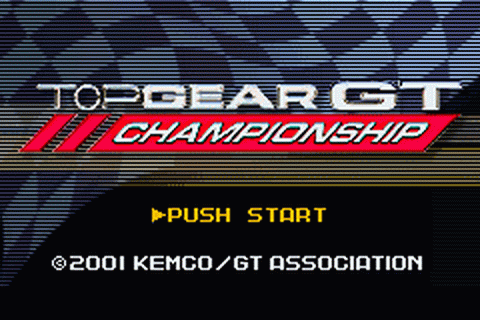 Top Gear GT Championship title screenshot