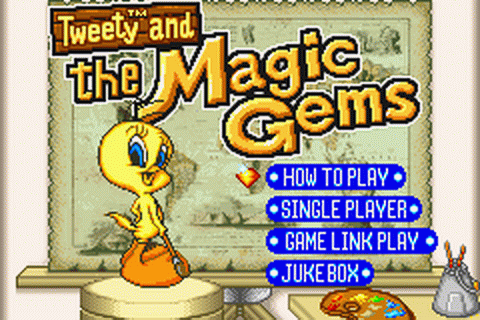 Tweety and the Magic Gems title screenshot