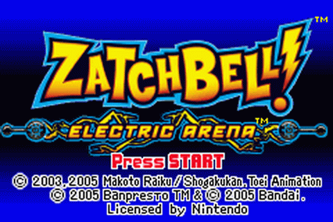 Zatchbell! - Electric Arena title screenshot