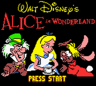 Alice in Wonderland title screenshot