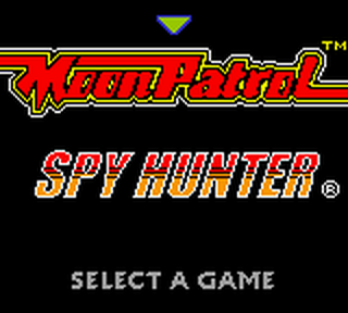 Arcade Hits - Moon Patrol & Spy Hunter title screenshot
