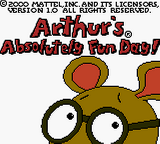 Arthur's Absolutely Fun Day! title screenshot
