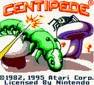 Centipede title screenshot
