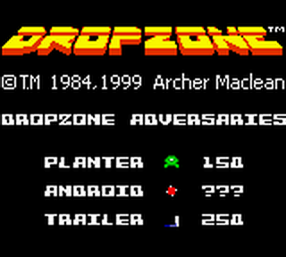 Dropzone title screenshot