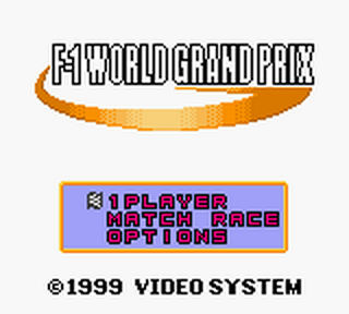 F-1 World Grand Prix title screenshot