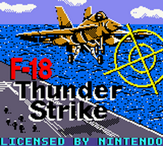 F-18 Thunder Strike title screenshot