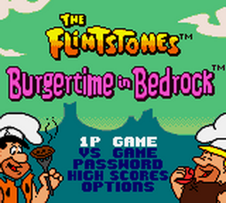 Flintstones, The - Burgertime in Bedrock title screenshot