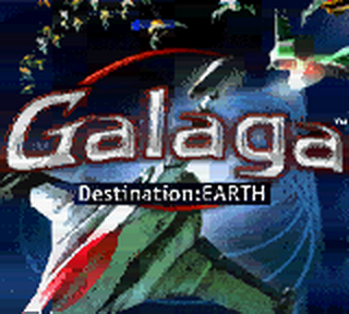 Galaga - Destination Earth title screenshot