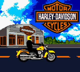 Harley-Davidson Motor Cycles - Race Across America title screenshot